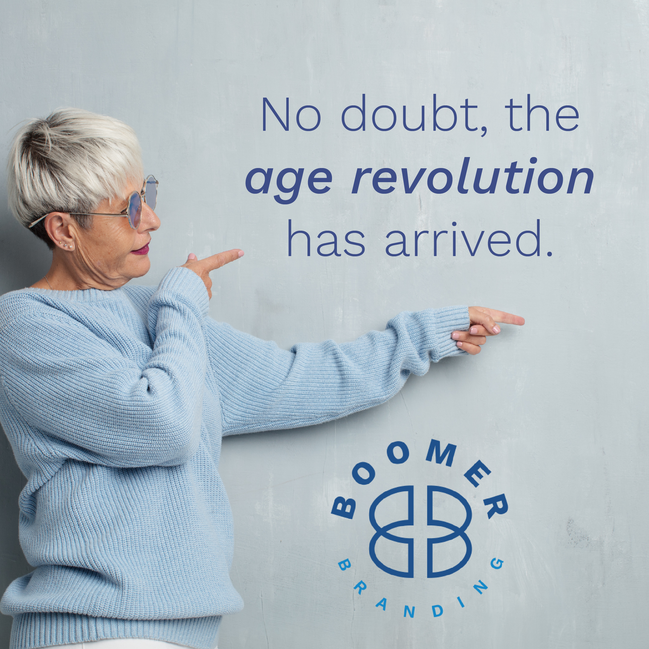 older cool woman reading aging revolution quote