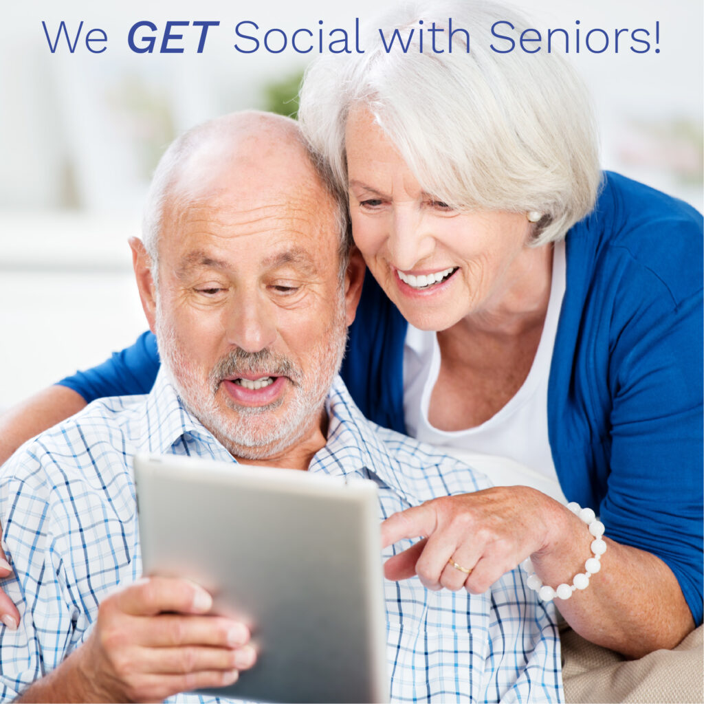 Boomer couple with tablet
