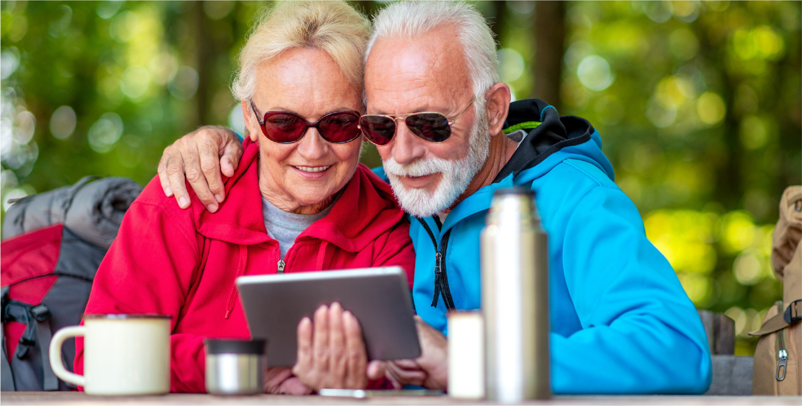 boomers viewing marketing on tablet