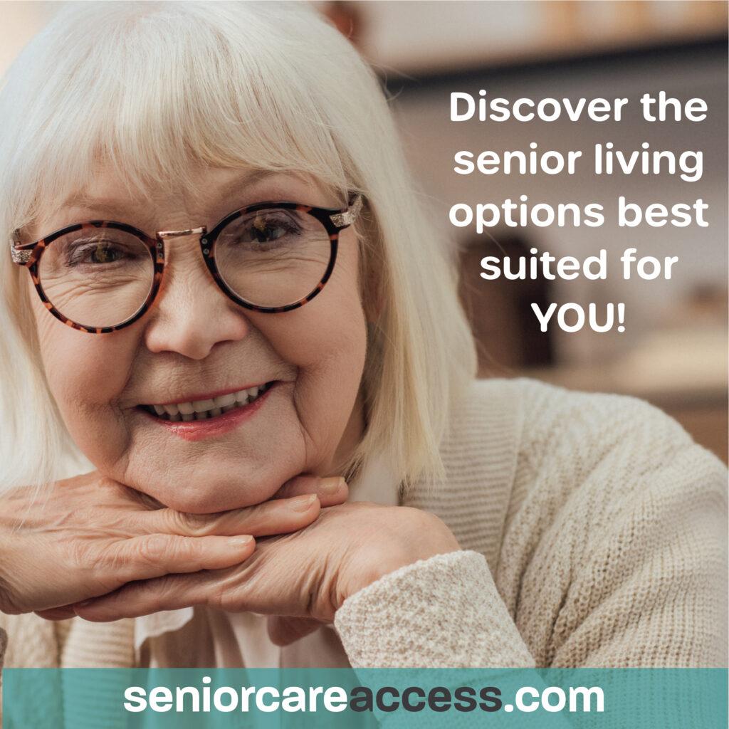 Senior with glasses