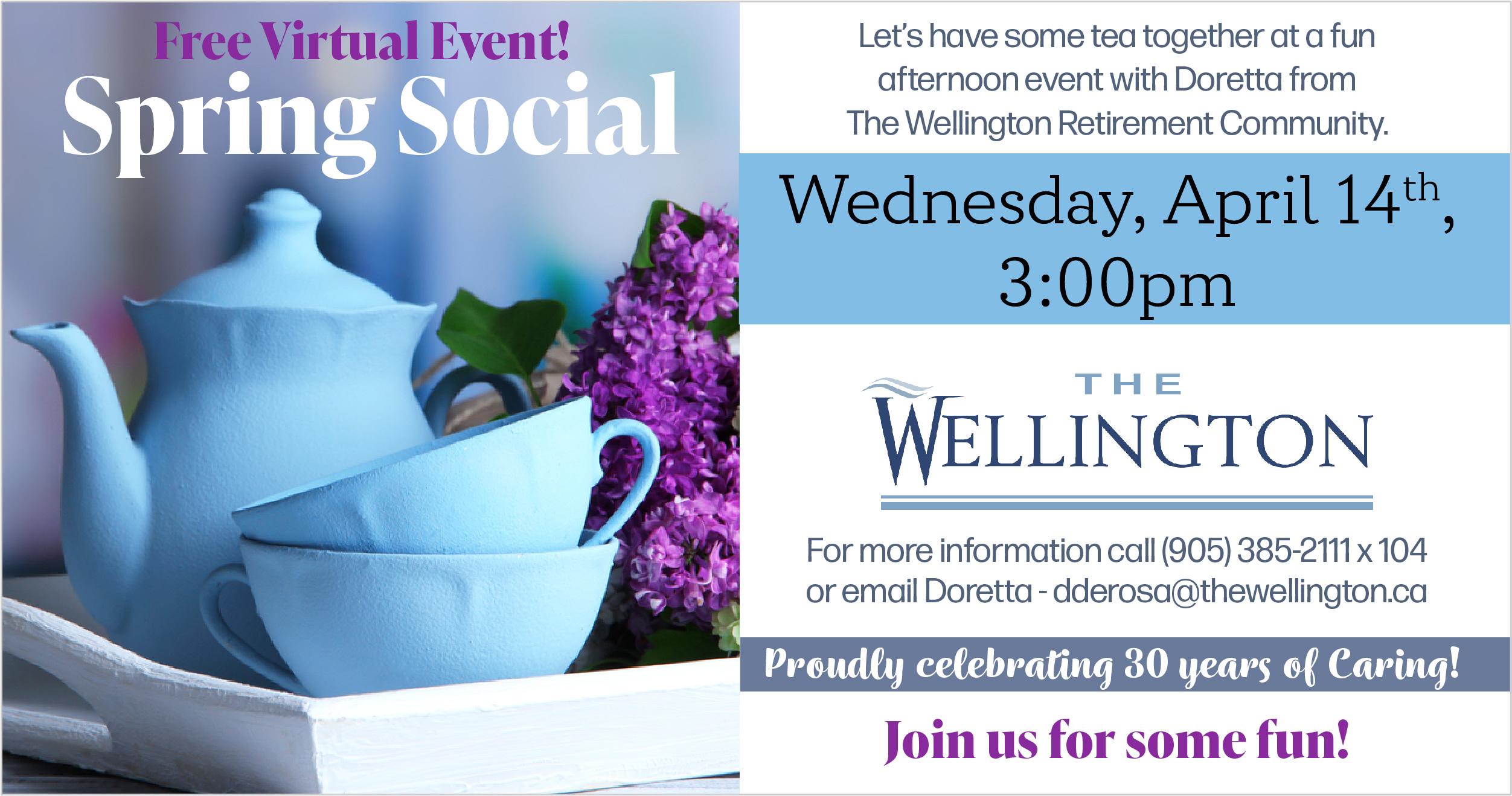 Wellington Retirement Residence Virtual Tea invitation